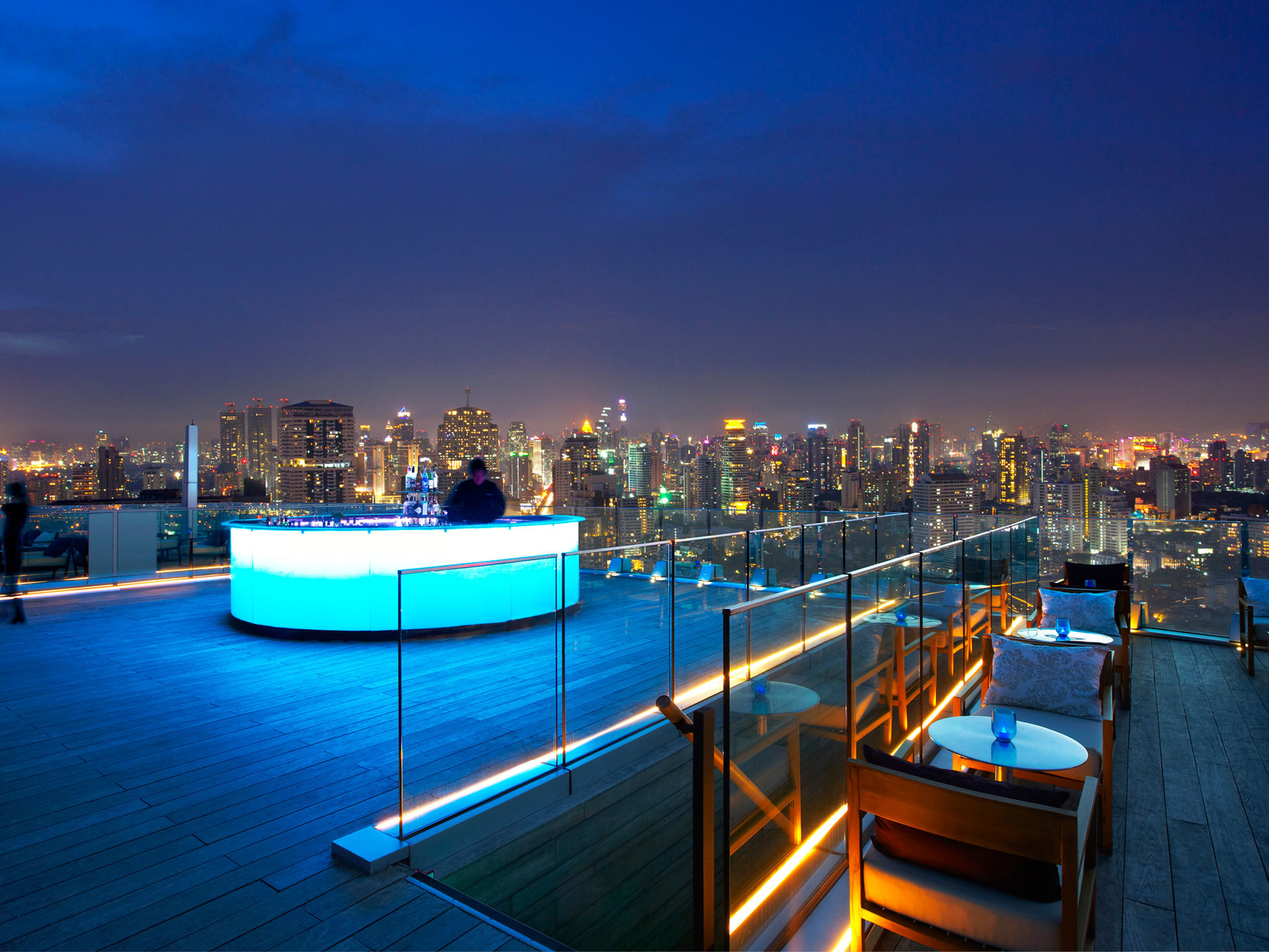 Rooftop Bars in Bangkok - Karte